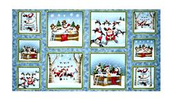"Just Chillin' Just Chillin' Picture Patches 24"" Panel Blue"