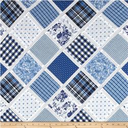 Vintage Cuts Patchwork Lawn Blue