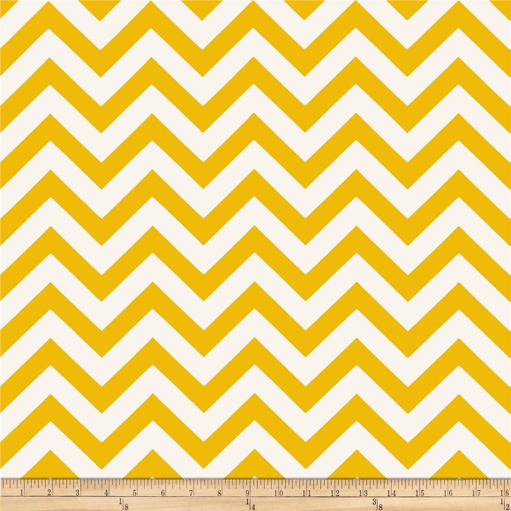 Premier Prints Zig Zag Corn Yellow/Natural