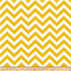 Premier Prints Zig Zag Corn Yellow/Natural Fabric
