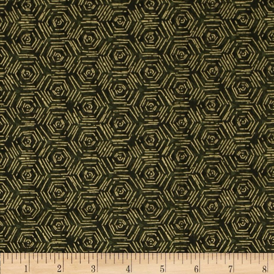 Falls Canvas Hexigrams Green