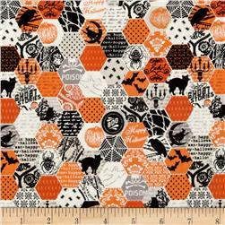 Riley Blake Happy Haunting Hexagon Orange