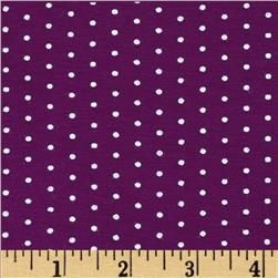 Stretch Bamboo Rayon Jersey Knit Dot Plum