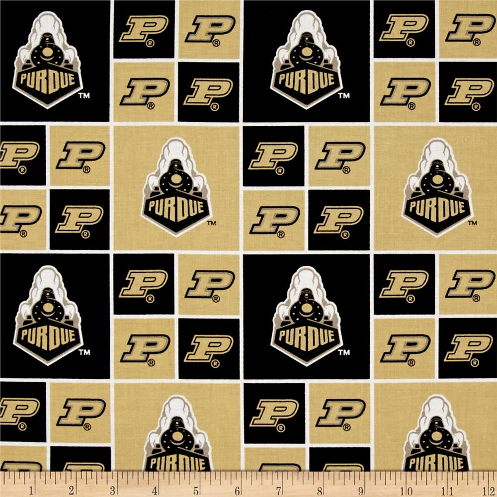 Collegiate Cotton Broadcloth Purdue University Boilermakers