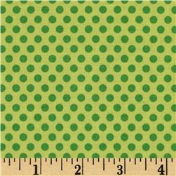 Riley Blake Zoofari Dots Green