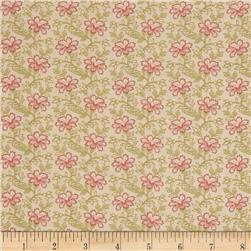 Moda Country Orchard Trailing Floral Cream/Leaf