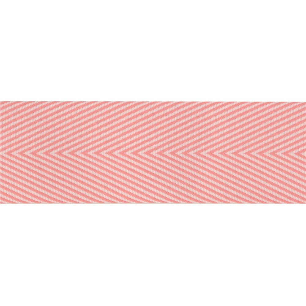 1 1/2'' Twill Tape Chevron Pink