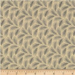 Downton Abbey Dowager Countess Small Branches Tan Fabric