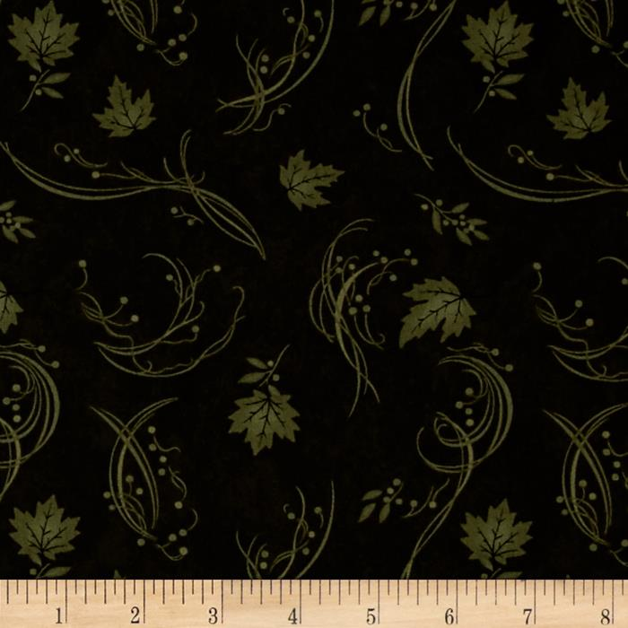 Moda Maple Island Falling Leaves Pine Green