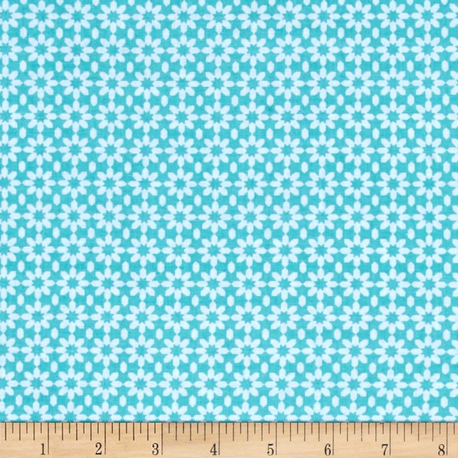 Uppercase Ice Floral Turquoise