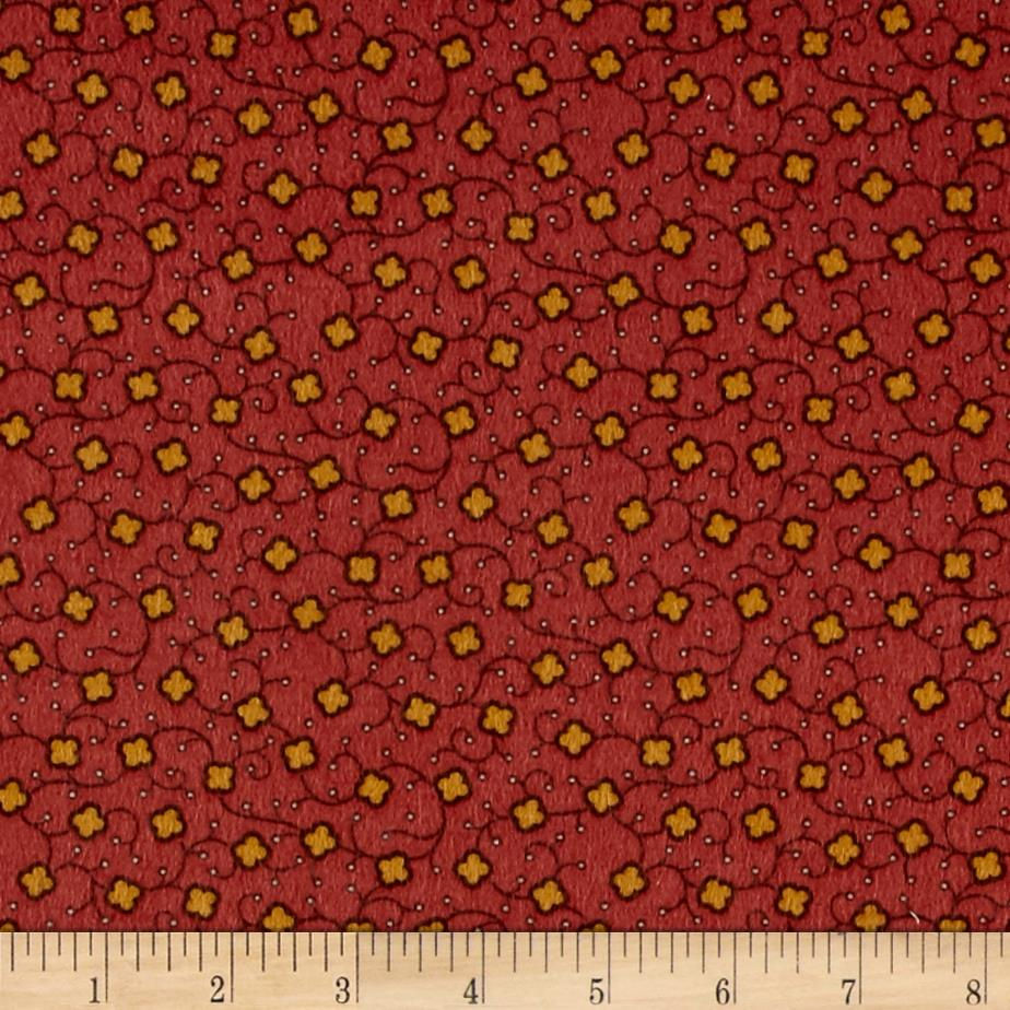 Cozies Flannel Harvest Flower Rust