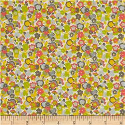 Liberty of London Tana Lawn Gleeson White/Yellow/Grey