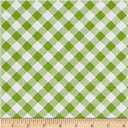 Riley Blake Sew Cherry 2 Gingham Green