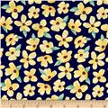 Michael Miller Meet Me In The Meadow Breezy Blooms Navy