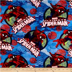 Marvel Spiderman Fleece Spidey Frames Blue