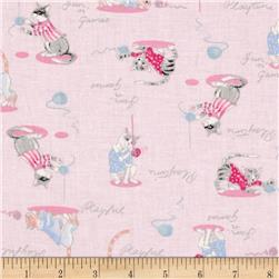 Paws & Play Playful Cats Pink