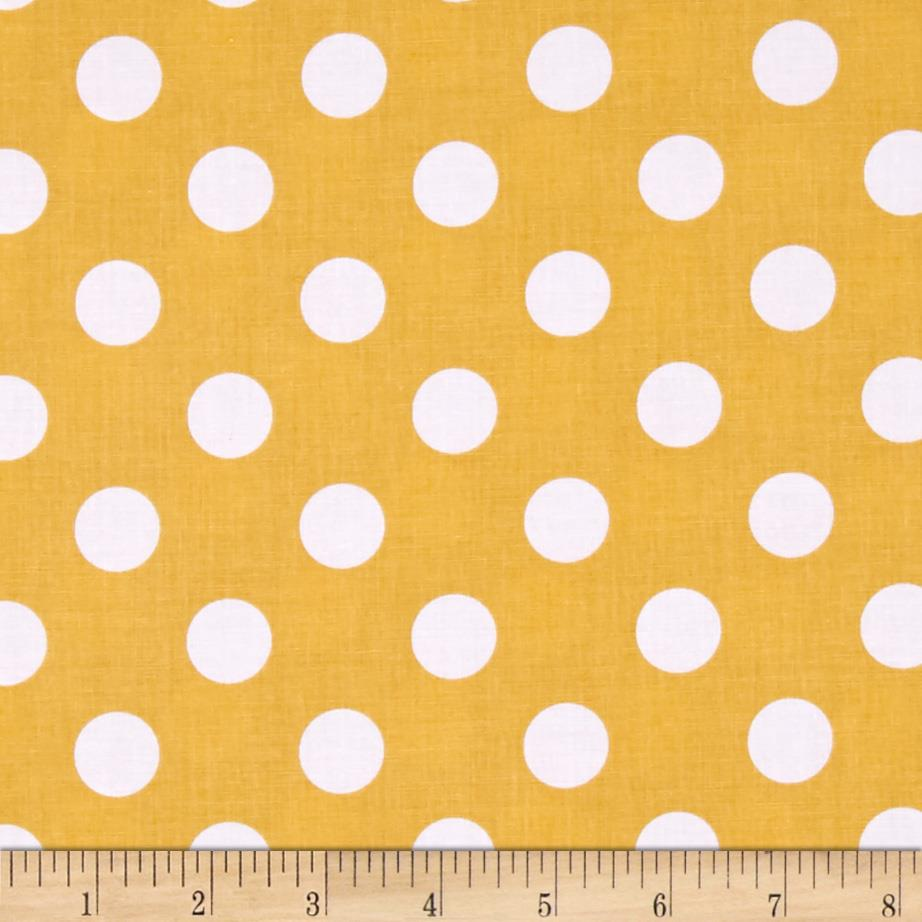 Riley Blake Basics Medium Dot Mustard