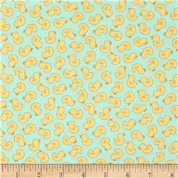 Bundle of Joy Just Duckies Pastel Blue Fabric