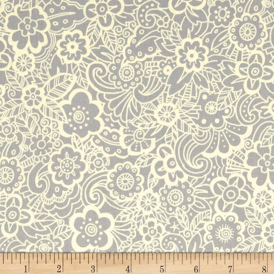 Deco Flowers Tonal Deco Flower Grey