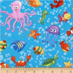 Little Mermaids Sea Creatures Blue/Multi
