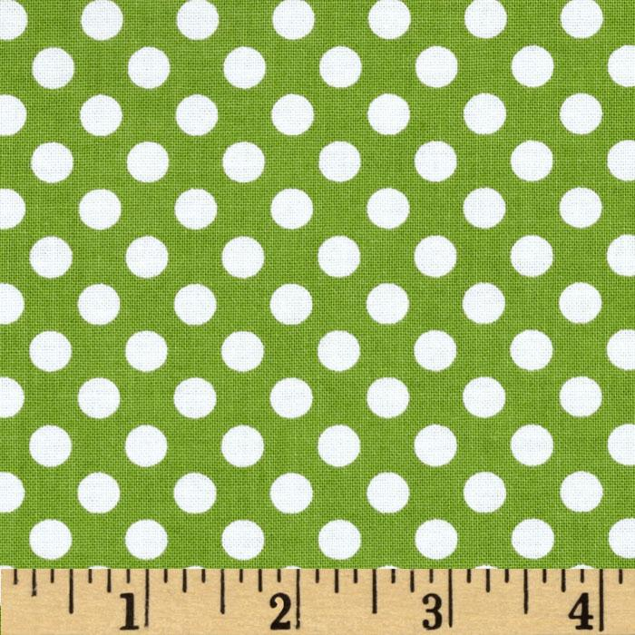 Riley Blake Dots Small Green