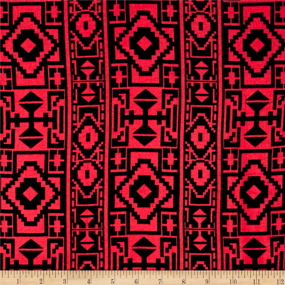 Rayon Challis Patternmaker Red