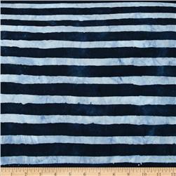 Artisan Batiks Color Source Horizontal Stripe Indigo