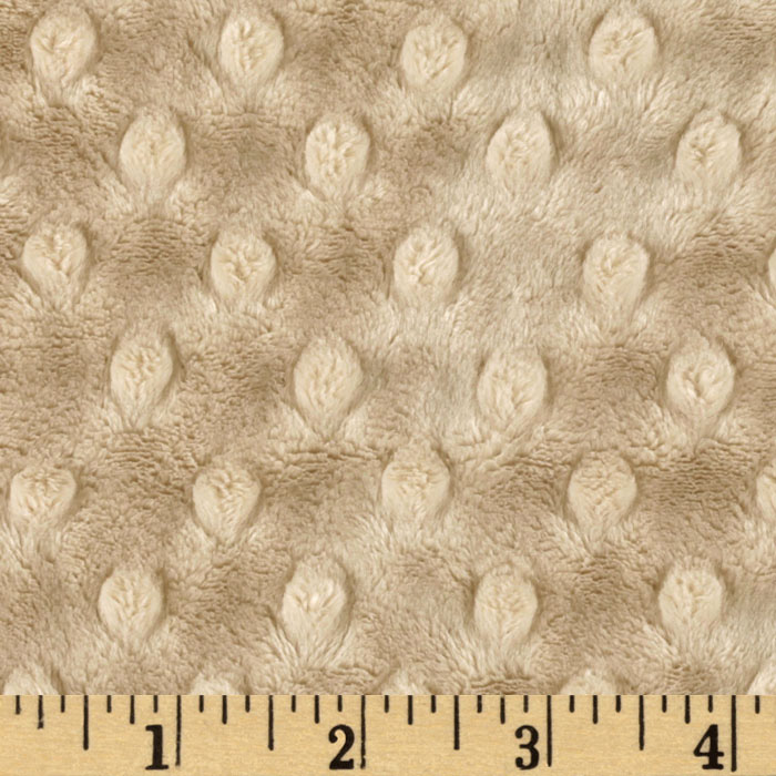 Minky Cuddle Dimple Dot Latte Fabric