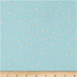 Kaufman Woodland Hideaway Flannel Flowers Teal