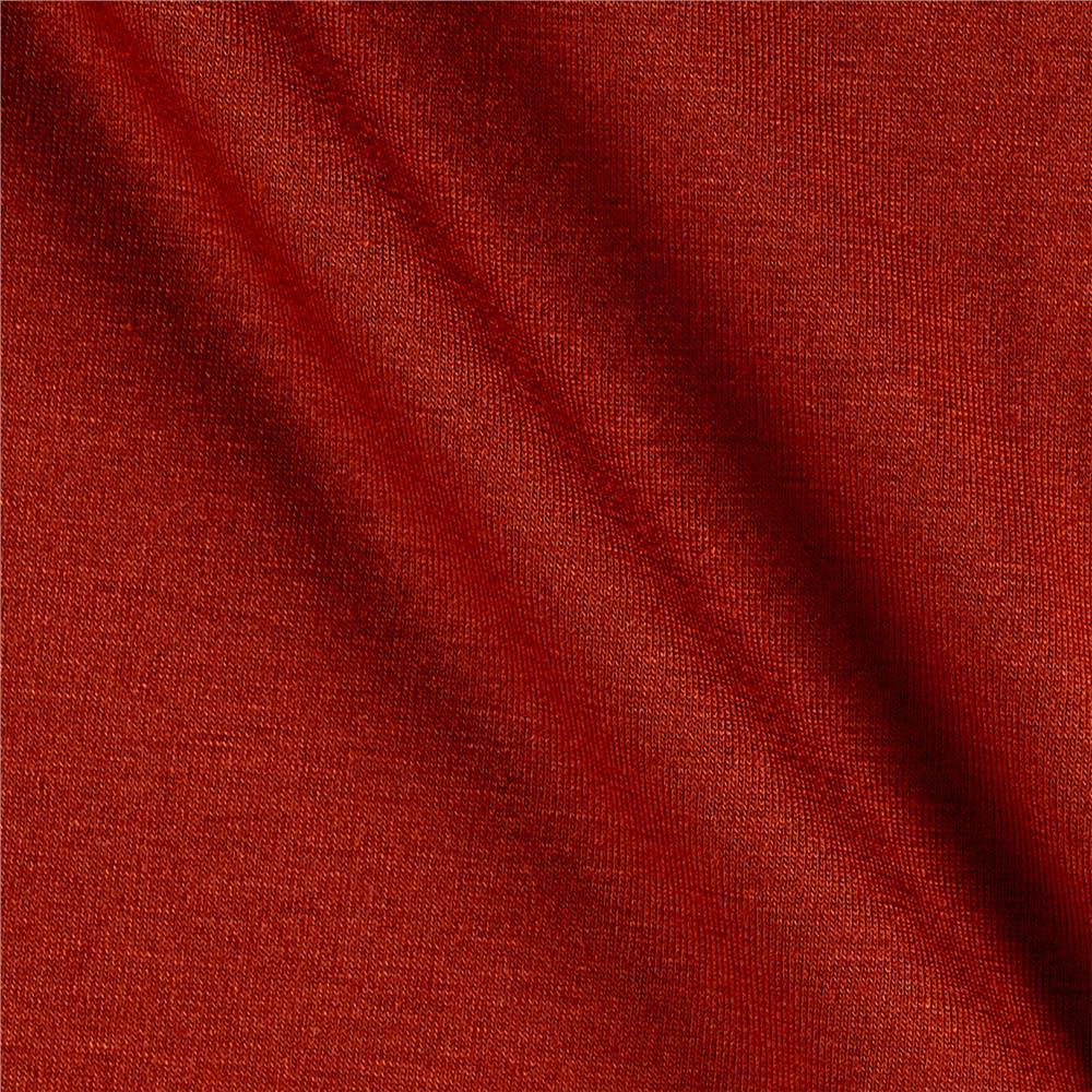 Jersey Knit Solid Cinnabar Fabric By The Yard