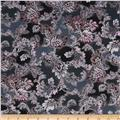 Mary May Metallic Tapestry Leaf Blackberry/Silver