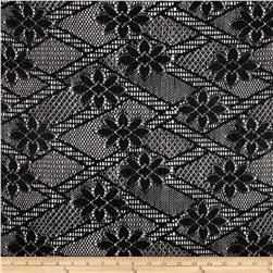 Stretch Zig Zag Lace Black