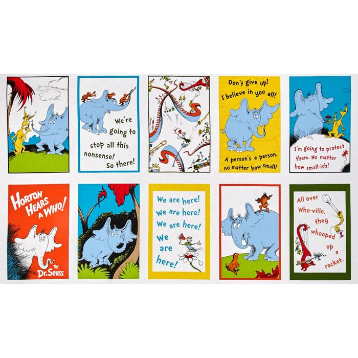 Dr. Seuss Horton Hears A Who 24 In. Panel Blocks Adventure