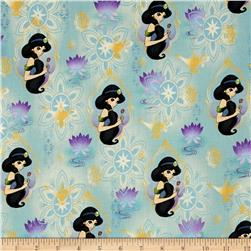 Disney Jasmine Princess Holding Flower Blue