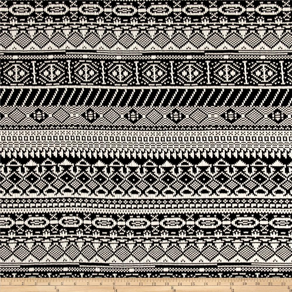 Jacquard Nordic Double Knit Black/White