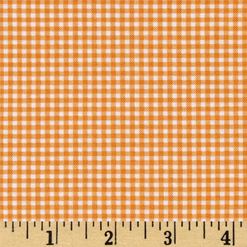 Michael Miller Tiny Gingham Orange