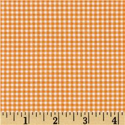 Michael Miller Tiny Gingham Orange Fabric
