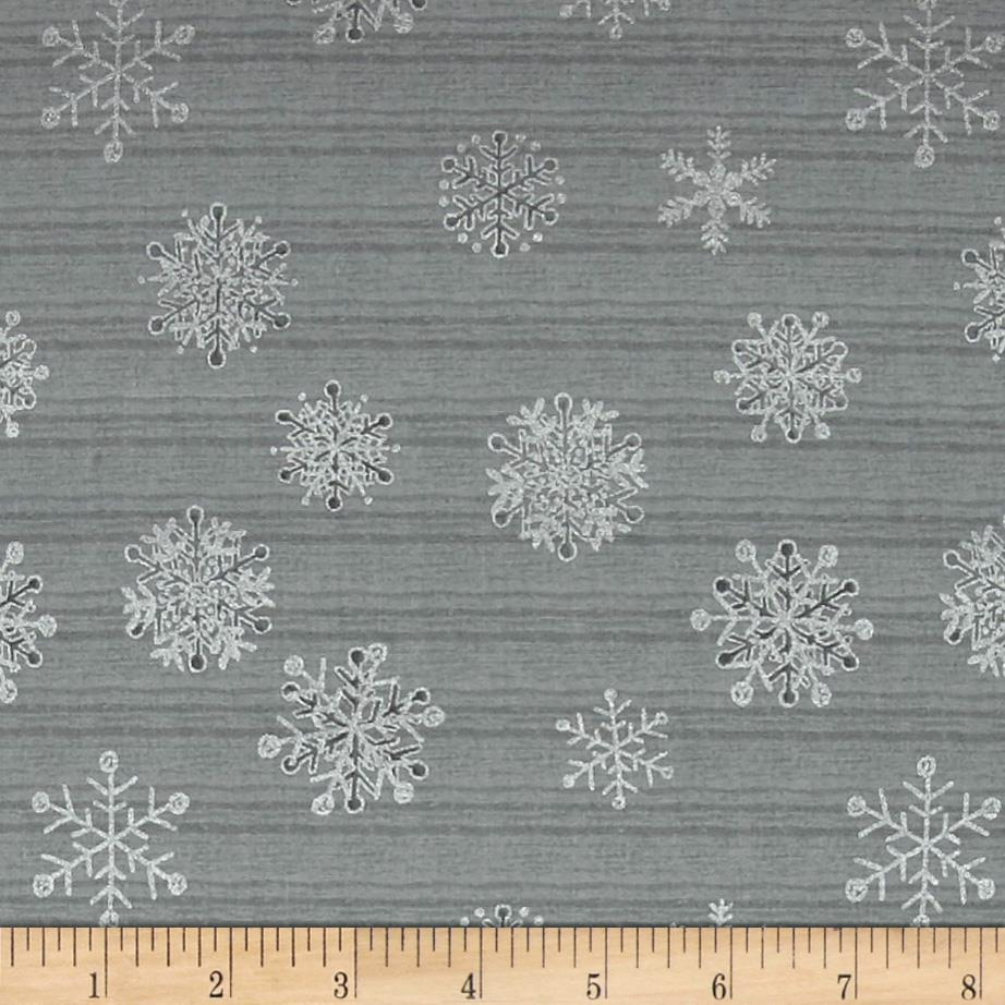 Magical Moments Silver Metallic Snowflakes Mint