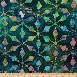 Indian Batiks Tiles Green/Turquoise