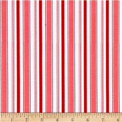 Riley Blake Cozy Christmas Stripe Pink