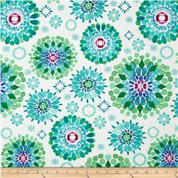 Island Breeze Large Medallion Teal/White