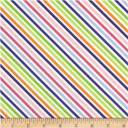 Moda Dot .Dot.Dash-! Diagonal Stripe Multi White