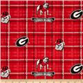 Collegiate Cotton Broadcloth University of Georgia Plaid Red/Black