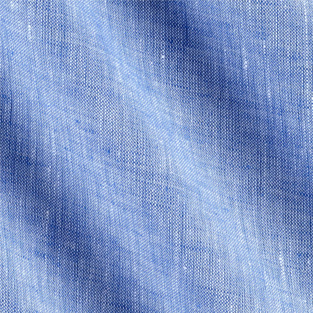 Telio Umbria Linen Blue  Solid Fabric By The Yard