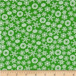 Frosty the Snowman Everyone's Fav Snowman Snowflakes Green