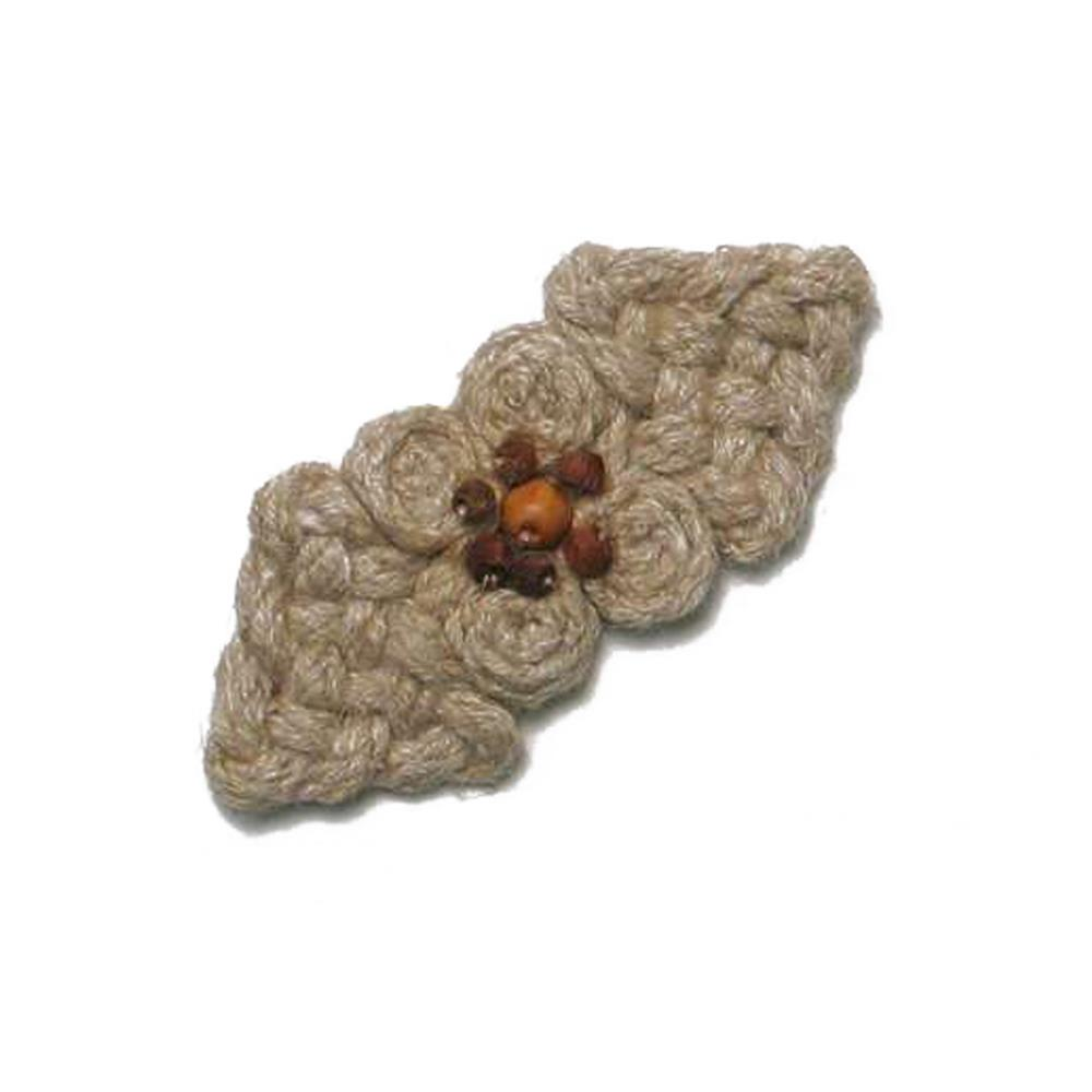 "2 3/4 x 1 3/16"" Woven Cluster Closure Natural"