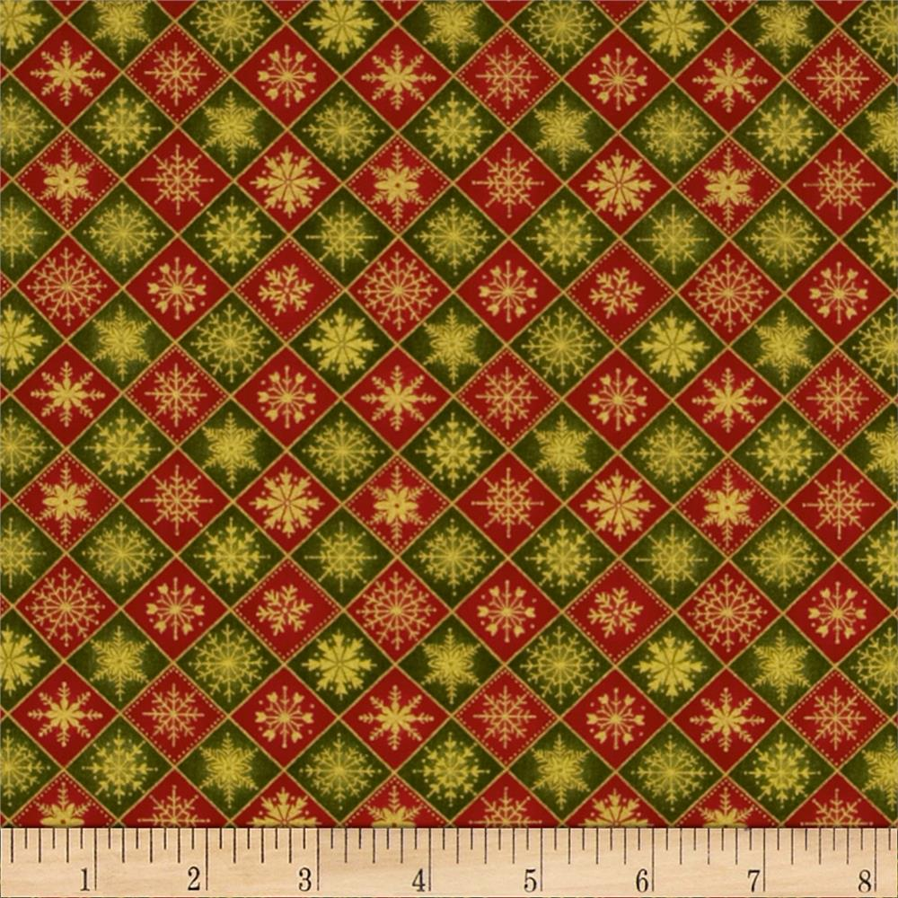 Old World Christmas Checkered Red/Green