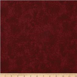 "110"" Wide Flannel Scroll Burgundy"