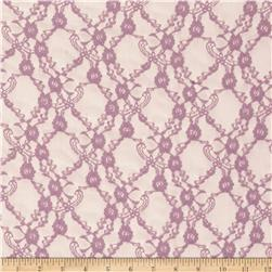 Stretch Summer Floral Lace Lilac