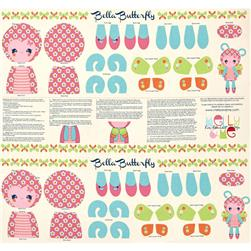 Riley Blake Flutterberry Panel Cream